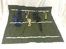 ROCK CLIMBING RAPPELLING RESCUE GEAR BAG ORGANIZER STORAGE MAT HARNESS CARIBINER