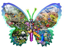 Misty Mountain Butterfly 1000 Piece Shaped Jigsaw Puzzle by SunsOut
