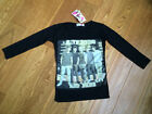 Black One Direction Top T-Shirt Sizes / Ages 7 - 8, 9- 10, 11-12, 13