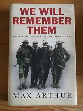 We Will Remember Them - Max Arthur Signed 1st/1st Hardback
