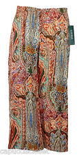 Ralph Lauren Womens Pants Wide Leg Palazzo Cropped Ethnic Printed Sz 2 NEW $119