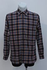 MENS TIMBERLAND CASUAL SHIRT LONG SLEEVED NAVY CHECKED SIZE M MEDIUM EXC