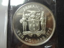 """JAMAICA 1978  PROOF SILVER $10 DOLLARS """" OUT OF MANY, ONE PEOPLE """""""
