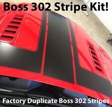 2013 2014 Ford Mustang Boss 302 Factory Style Black Racing Stripes