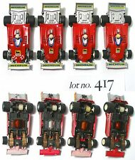 4pc 1981-1984 TYCO 440-X2 MICHELIN Agip Indy F1 Slot Car Factory VaRiAtIoNs! 417