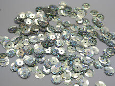 2000 Silver Hologram 10mm CUP round loose sequins Paillette sewing Wedding craft
