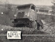 Renault 750kg 4WD Truck REPRINT Of 1952 French Market Foldout Brochure