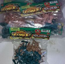 New Lot of 6 - Battle Force Pack 25 Army Men,Soldiers in Tan and Green FREE Ship