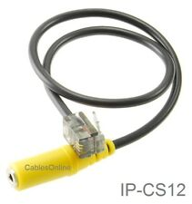 1ft 2.5mm TRS Headset Jack to RJ9/RJ10 Cisco IP Office Phone Adapter, IP-CS12
