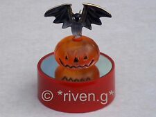 Pumpkin & bat@hallowe'en gift@22ct@lights up@cake topper@child friendly@spooky