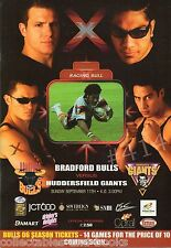 BRADFORD BULLS v HUDDERSFIELD GIANTS 11th September 2005 RUGBY League PROGRAMME
