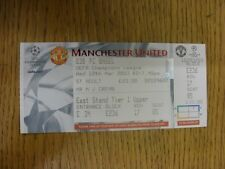 12/03/2003 Ticket: Manchester United v Basel [UEFA Champions League] Complete Ti