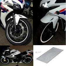 "New RIM stickers Silver White Reflective Tape 6mm 16 "" 17"" 18"" Motorcycle Car"