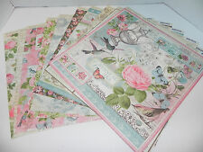 LOT GRAPHIC 45 BOTANICAL TEA DOUBLE SIDED DESIGNER PAPER 12 X 12
