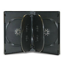 2 x 6 DISC WAY DVD CD CASE BLACK 22MM SPINE