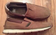 New��Clarks��Size 6 G Beachmont Step Dark Brown Leather Shoes Slip On Moccasins