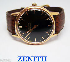 Vintage Solid 18k Rose ZENITH Automatic Watch c.1955 Cal 133.8* EXLNT* SERVICED