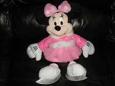 "MINNIE MOUSE ICE SKATER  APPROX. 16"" by DISNEY STORE from 2011 SOFT TOY"