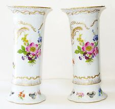 Paris Royal Peint a La Main Sevres design Spring Flowers Porcelain Vases /France