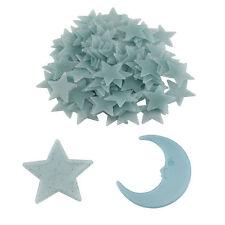 100Pcs Wall Ceiling Glow In The Dark Light Green Stars Kids Bedroom Sticker New