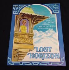 1973 Original Vintage Lost Horizons Musical Production Paper Doll Book Uncut