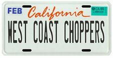 West Coast Choppers Custom Motorcycle CA License plate