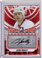 JASON WOOLLEY 12/13 ITG Motown Madness Auto Autograph A-JW Detroit Red Wings