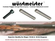 CUSTOM TRIGGER GROUP PINS (2) + TAKEDOWN SCREW FOR RUGER 10/22 -- NEW!