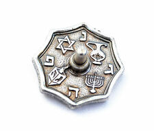 Small DREIDEL - - -  Metal Draidel, Judaica hebrew Jewish gift Spinning Chanukah