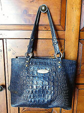 Brahmin Black Croco Leather Tote Bag Great Bag