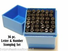 36 PC. 5MM LETTER AND NUMBER STAMPING PUNCH SET