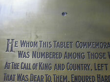 Replica Copy WW1 Memorial Tablet similar wording to Scroll-Personalised as req.