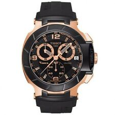 Tissot T-Race Chronograph Rose Gold-tone Black Rubber Mens Watch