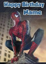 - SPIDERMAN - IDEAL FOR SON GRANDSON PERSONALISED CHILDREN'S BIRTHDAY CARD