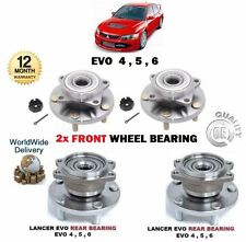 FOR MITSUBISHI LANCER EVO 4 5 6 1996-  2x FRONT + 2x REAR WHEEL BEARING HUB KIT