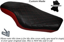 TWOTONE DIAMOND DARK RED CUSTOM FOR HARLEY SPORTSTER 883 1200  DUAL SEAT COVER