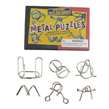 6 Wire Metal Brain Teaser IQ Puzzles Magic Trick Toys/Tricks Puzzle Toy Game Set
