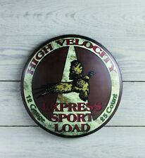 Sport Load Advertising Tin Sign 12 Gauge High Velocity Hunting Camp Home Decor
