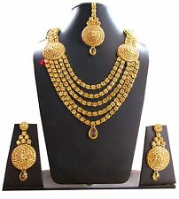Polki-kundan-gold-Indian-bridal-Necklace-earrings-Sets-bollywood-wedding-jewelry