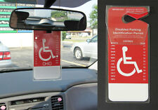 Set of 2 - New Handicapped Disabled Parking Car Permit Placard Holder Protector