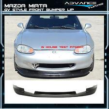 99-00 Mazda Miata MX-5 2 Door Coupe GV Style Front Bumper Lip Chin Spoiler PU