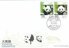 Macau Stamp FDC 2010 Giant Panda + MS MO137917