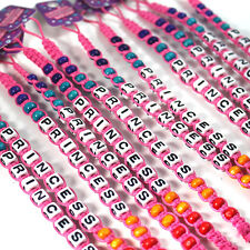 12 x YUMMY PRINCESS PARTY BAG Fillers BRACELETS Gifts girls favours 12PFB