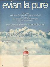 Publicité Advertising 1972  EVIAN eau pure
