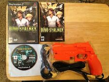 Dino Stalker Playstation 2 PS2 Complete Game & Orange Concon2 controller