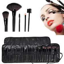 32tlg Professionelle Kosmetik Echthaare Pinsel Makeup Brush Schminkpinsel Set