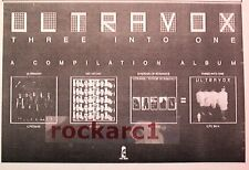 ULTRAVOX Three into One 1980 UK Poster size Press ADVERT 12x8""