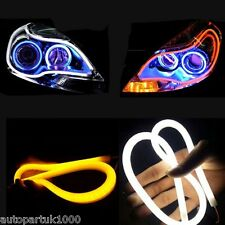 Pack of 2 Dual Color Switchback Headlight Soft Tube LED Daytime and Turn light