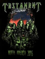 TESTAMENT cd lgo SEVERED HEADS Official North American TOUR  SHIRT SMALL new