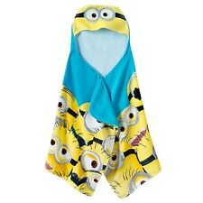 NEW Despicable Me Mega Minions Kids Hooded Bath Towel Wrap FREE SHIPPING